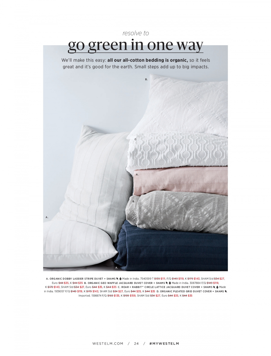 West Elm catalogue  - 18.12.2017 - 31.1.2018. Page 24.