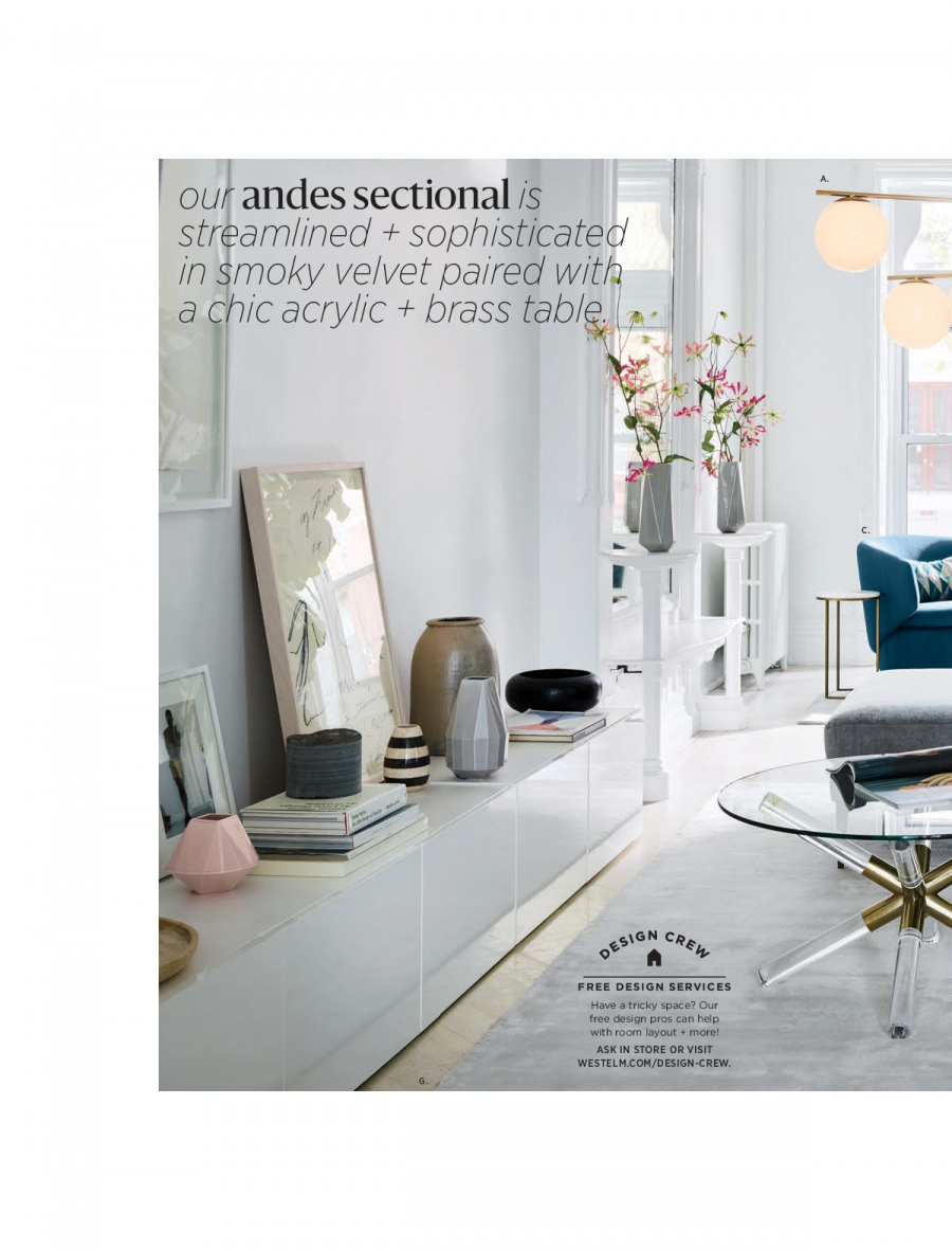 West Elm catalogue  - 18.12.2017 - 31.1.2018. Page 44.