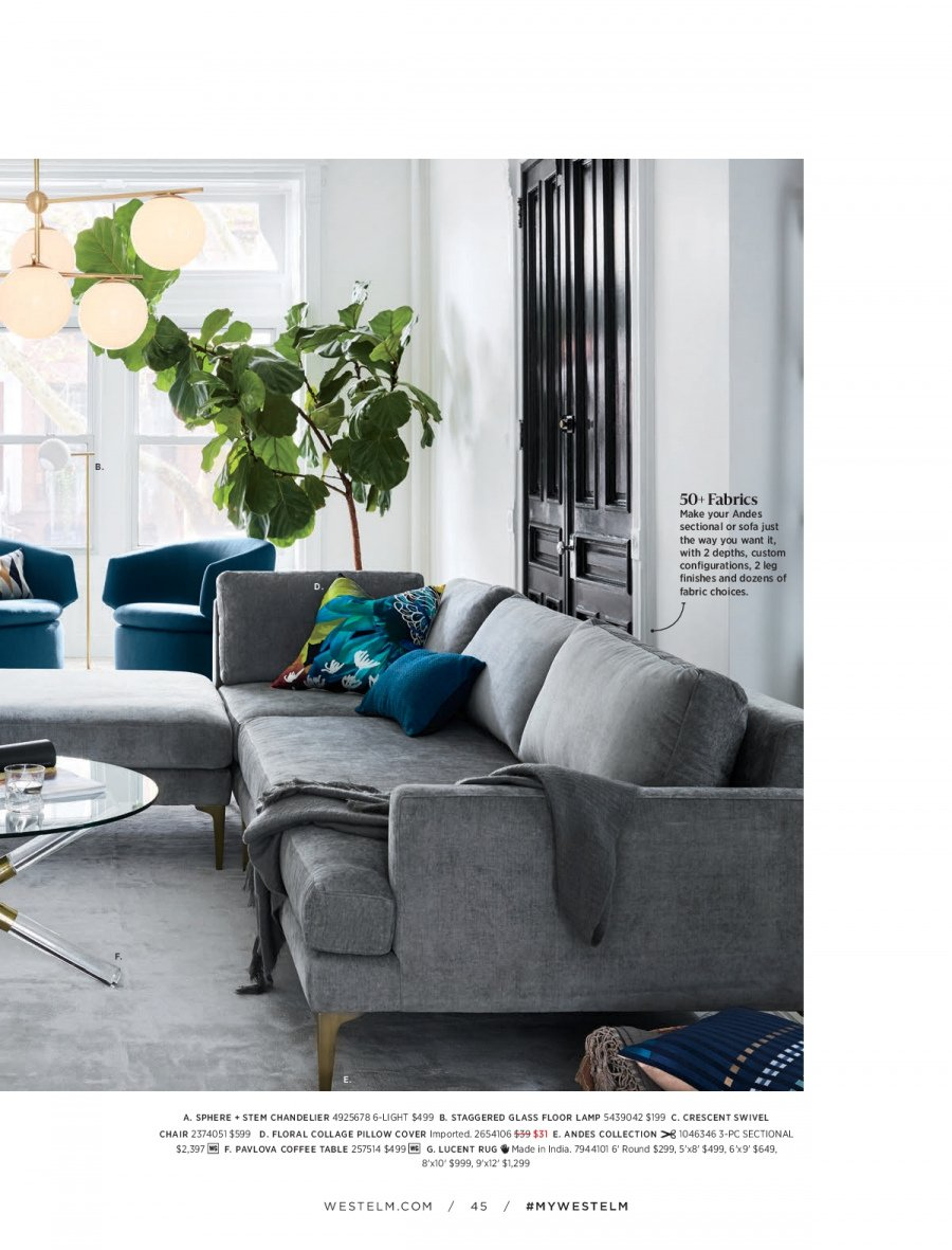 West Elm catalogue  - 18.12.2017 - 31.1.2018. Page 45.