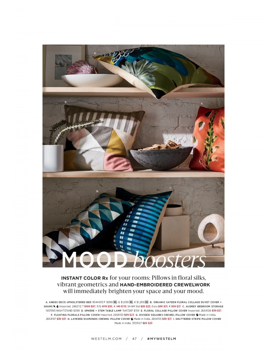 West Elm catalogue  - 18.12.2017 - 31.1.2018. Page 47.