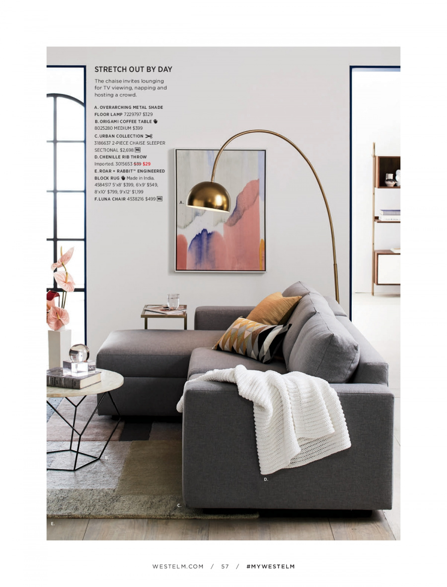 West Elm catalogue  - 18.12.2017 - 31.1.2018. Page 57.