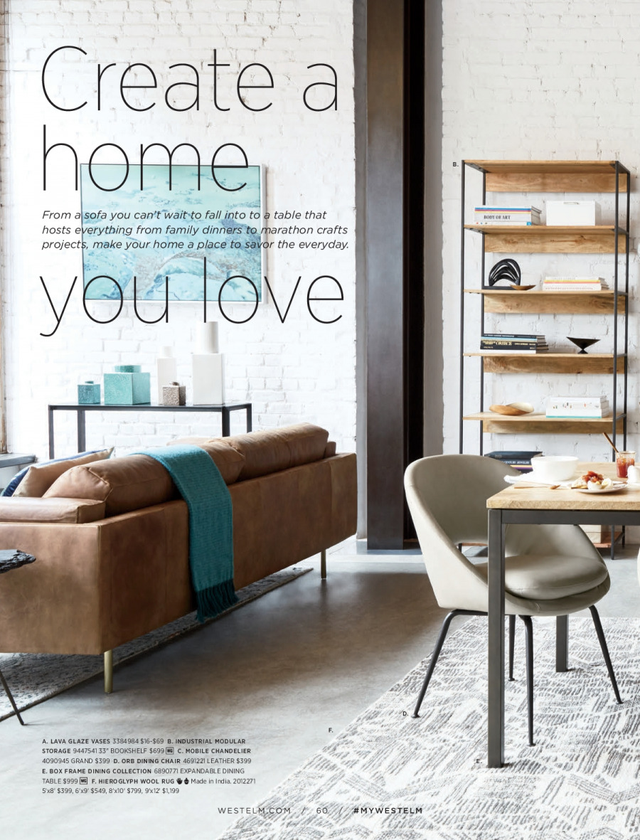 West Elm catalogue  - 18.12.2017 - 31.1.2018. Page 60.