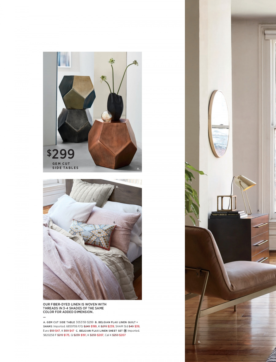 West Elm catalogue  - 18.12.2017 - 31.1.2018. Page 66.