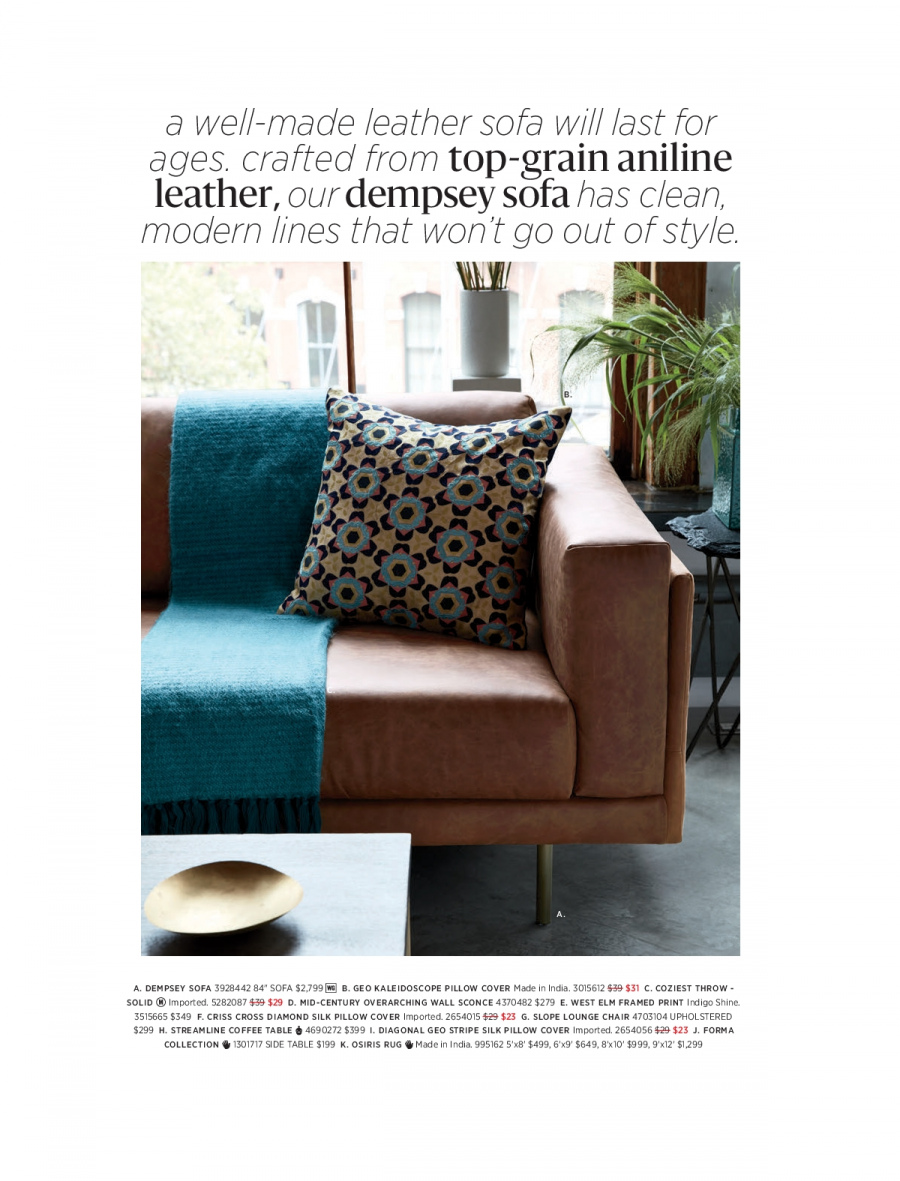 West Elm catalogue  - 18.12.2017 - 31.1.2018. Page 68.