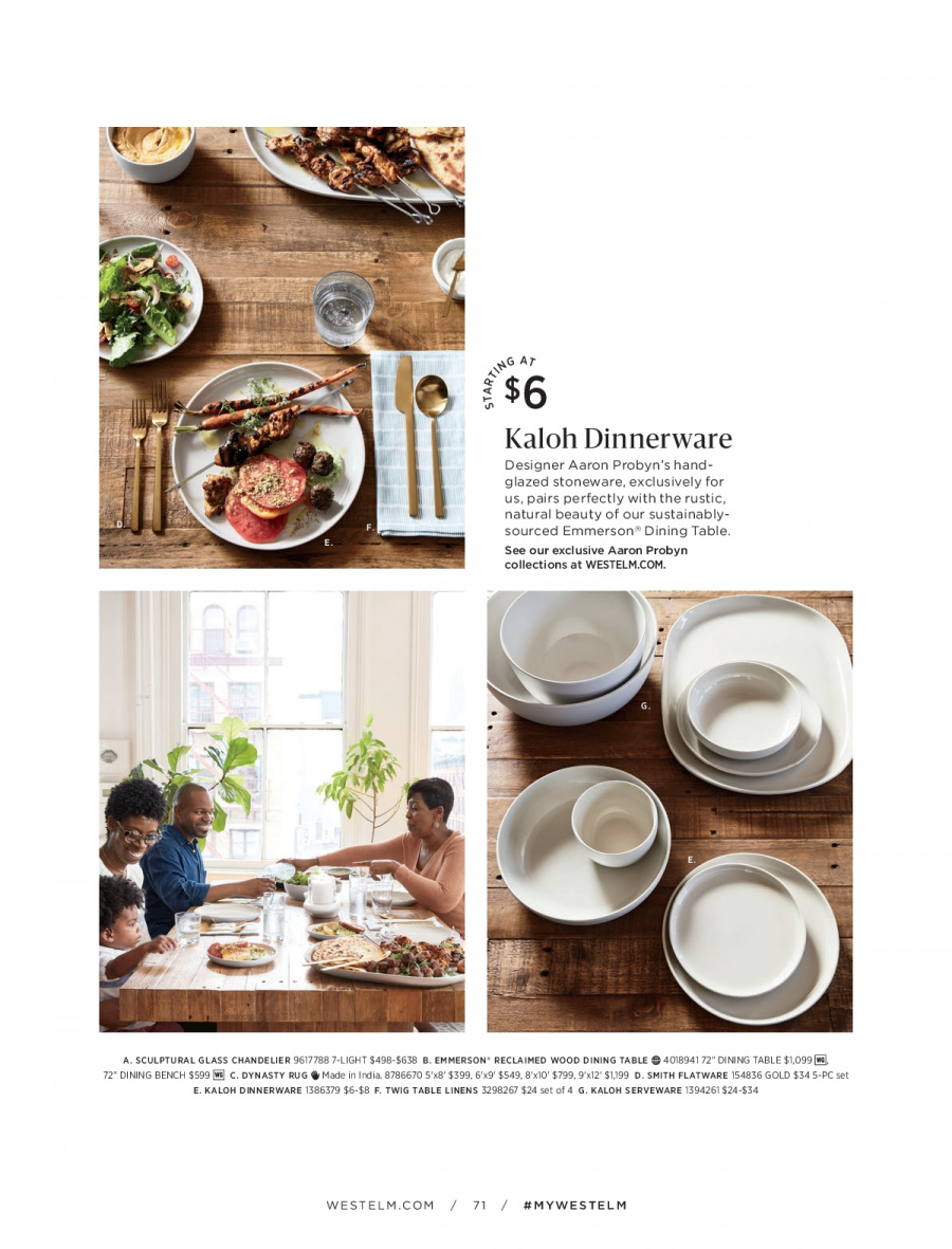 West Elm catalogue  - 18.12.2017 - 31.1.2018. Page 71.