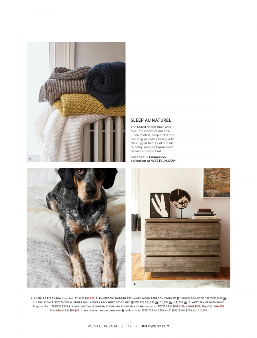 West Elm catalogue  - 18.12.2017 - 31.1.2018. Page 72.
