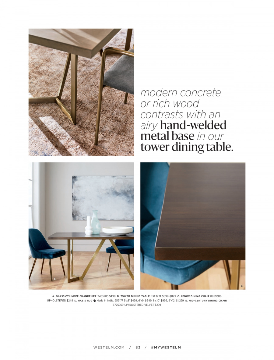 West Elm catalogue  - 18.12.2017 - 31.1.2018. Page 83.