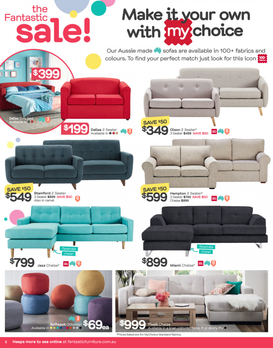 Fantastic Furniture catalogue  - 26.12.2017 - 28.1.2018. Page 2.