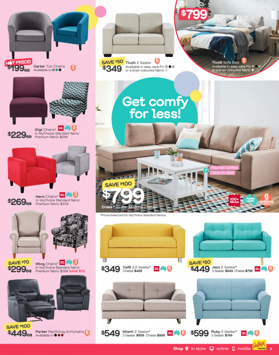 Fantastic Furniture catalogue  - 26.12.2017 - 28.1.2018. Page 3.
