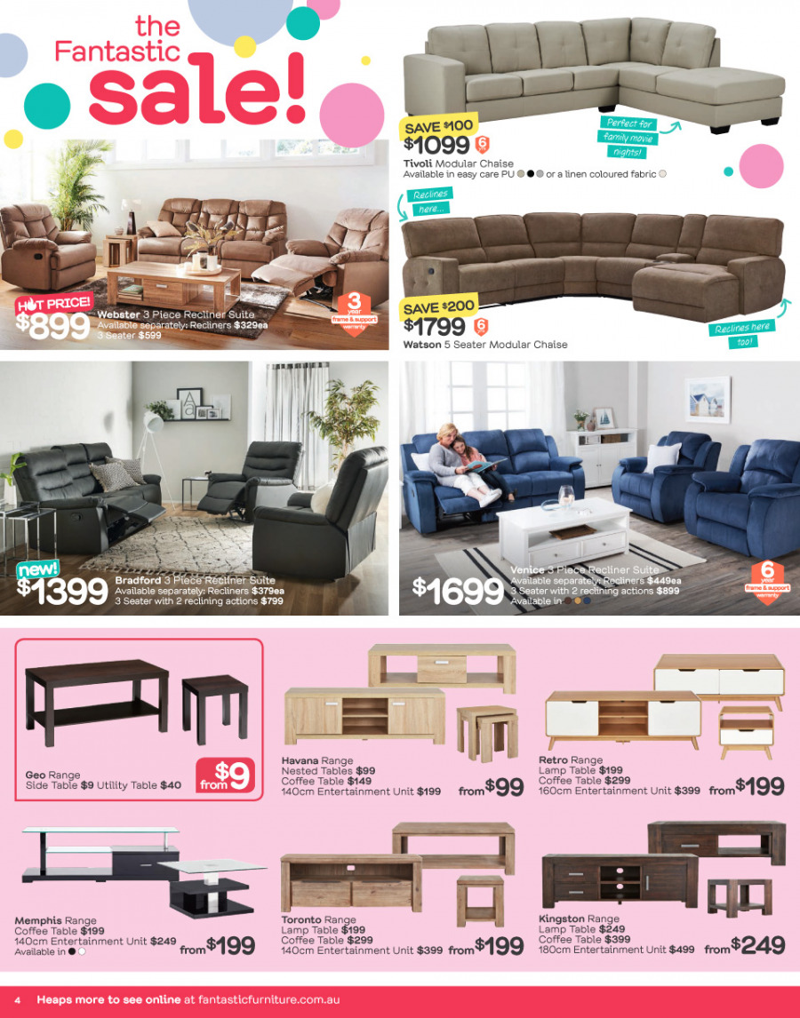 Fantastic Furniture catalogue  - 26.12.2017 - 28.1.2018. Page 4.