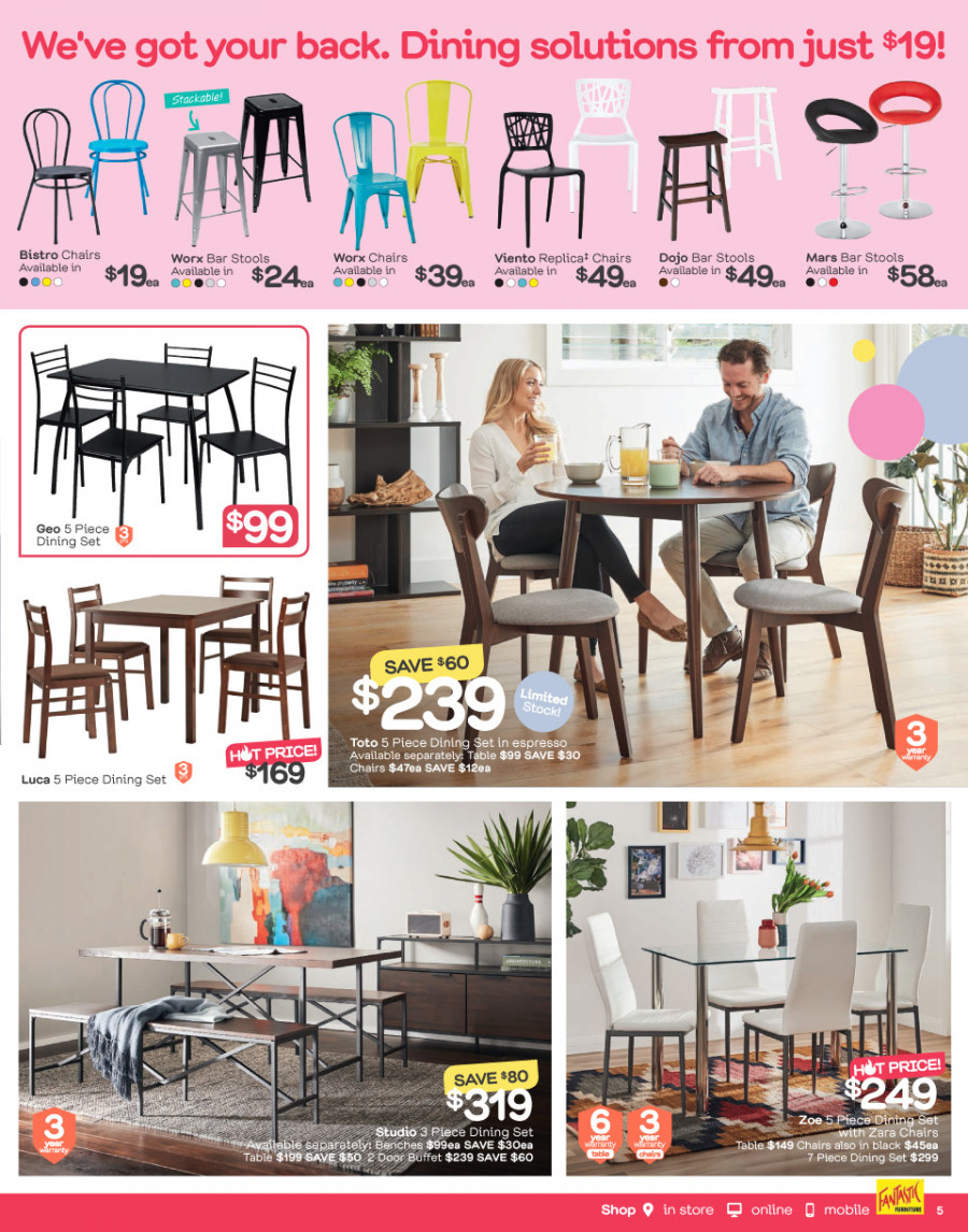Fantastic Furniture catalogue  - 26.12.2017 - 28.1.2018. Page 5.