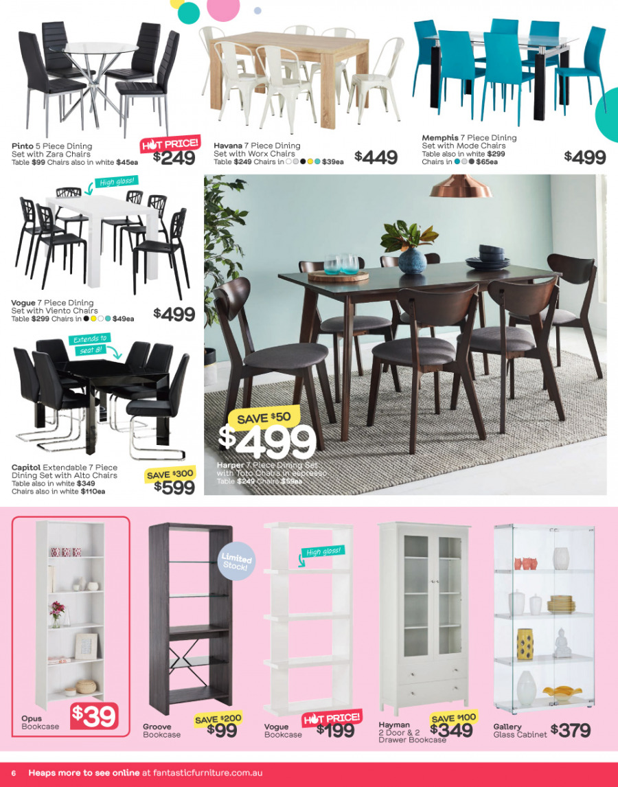 Fantastic Furniture catalogue  - 26.12.2017 - 28.1.2018. Page 6.