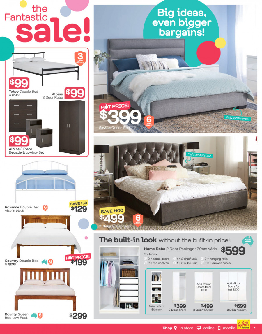 Fantastic Furniture catalogue  - 26.12.2017 - 28.1.2018. Page 7.