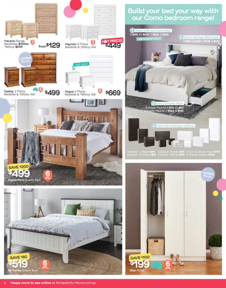 Fantastic Furniture catalogue  - 26.12.2017 - 28.1.2018. Page 8.