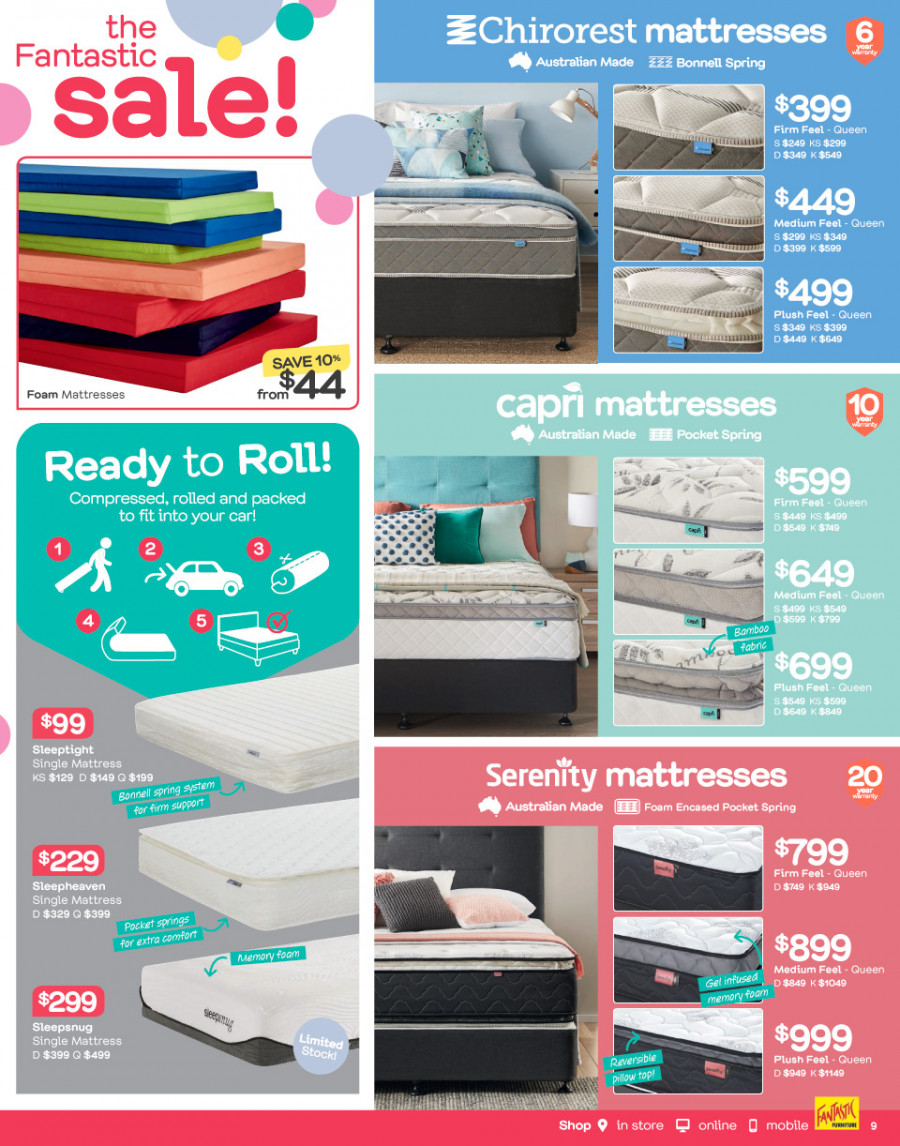 Fantastic Furniture catalogue  - 26.12.2017 - 28.1.2018. Page 9.