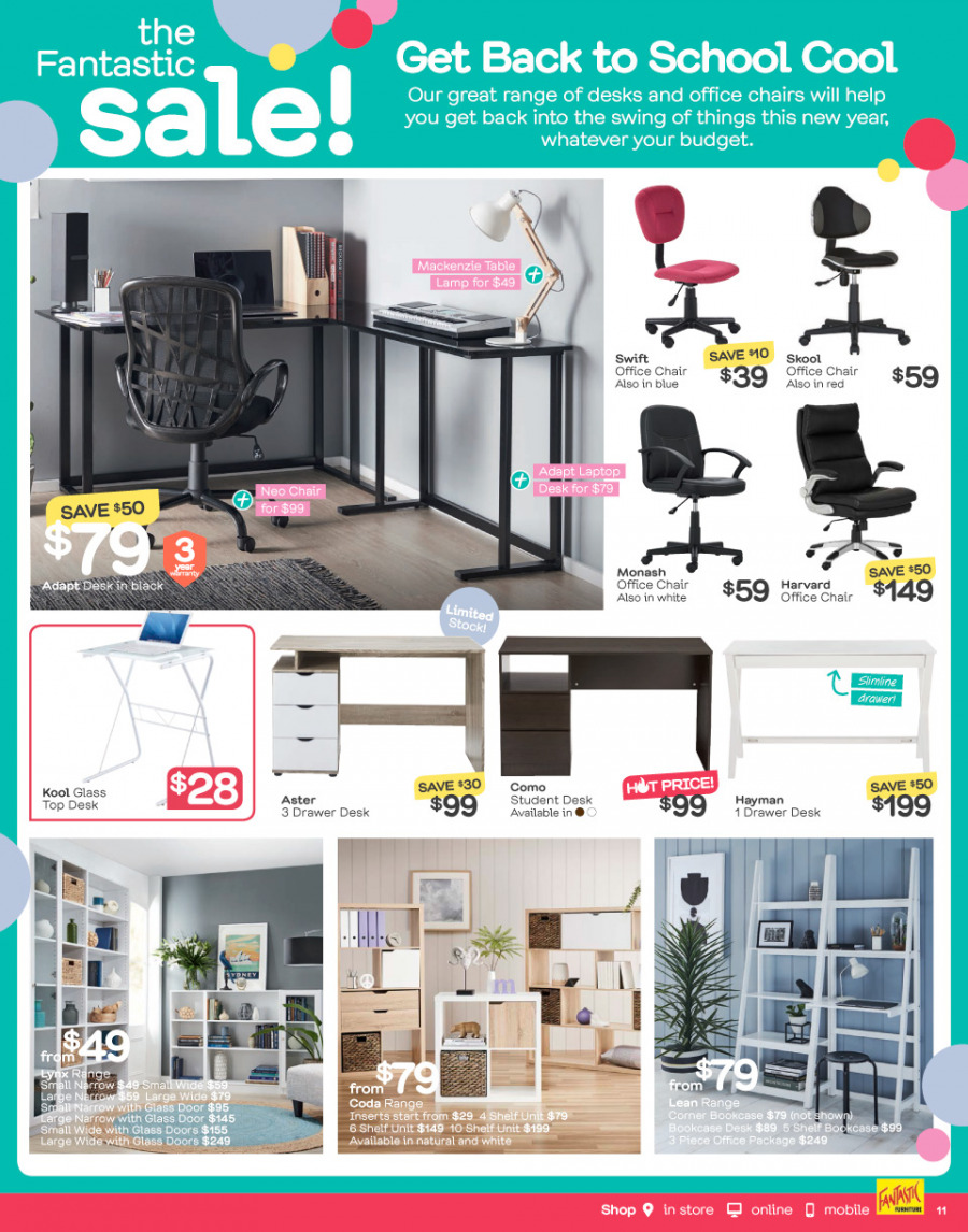 Fantastic Furniture catalogue  - 26.12.2017 - 28.1.2018. Page 11.