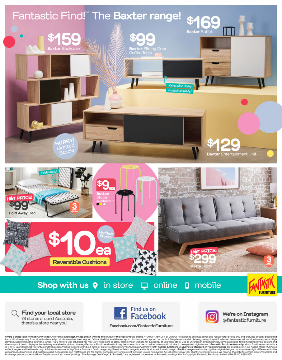 Fantastic Furniture catalogue  - 26.12.2017 - 28.1.2018. Page 12.