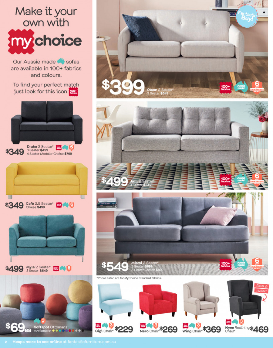 Fantastic Furniture catalogue  - 29.1.2018 - 25.2.2018. Page 2.