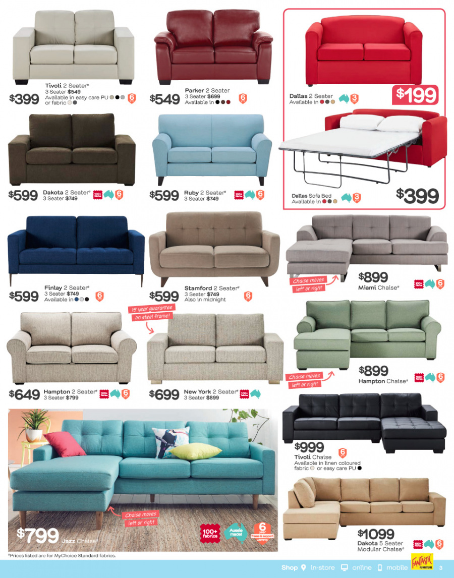 Fantastic Furniture catalogue  - 29.1.2018 - 25.2.2018. Page 3.