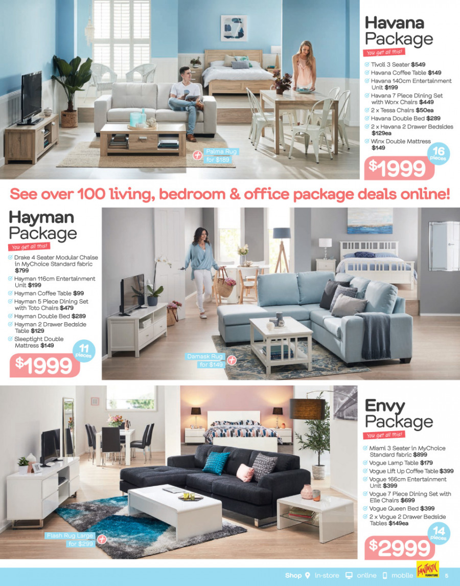 Fantastic Furniture catalogue  - 29.1.2018 - 25.2.2018. Page 5.