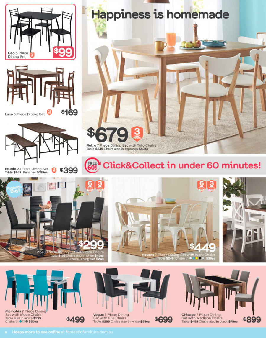 Fantastic Furniture catalogue  - 29.1.2018 - 25.2.2018. Page 6.