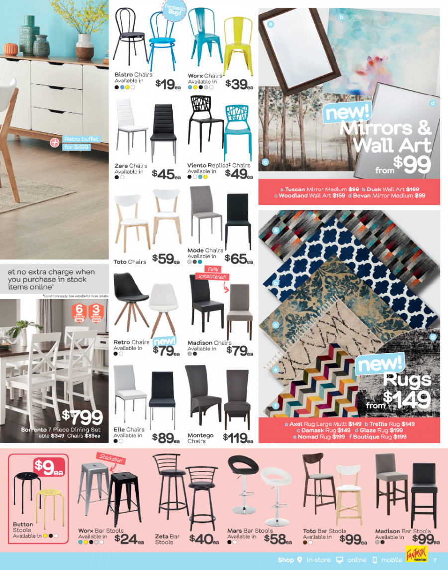 Fantastic Furniture catalogue  - 29.1.2018 - 25.2.2018. Page 7.