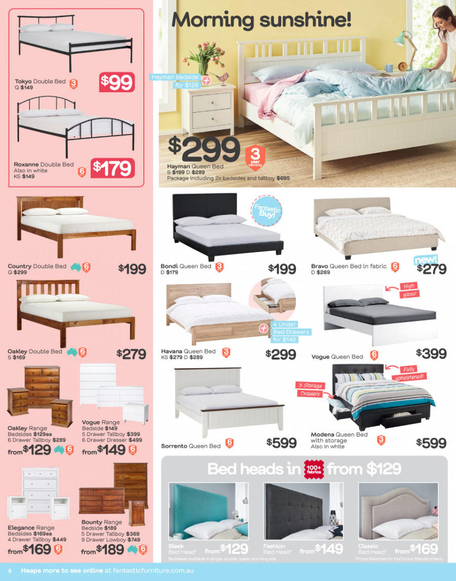 Fantastic Furniture catalogue  - 29.1.2018 - 25.2.2018. Page 8.