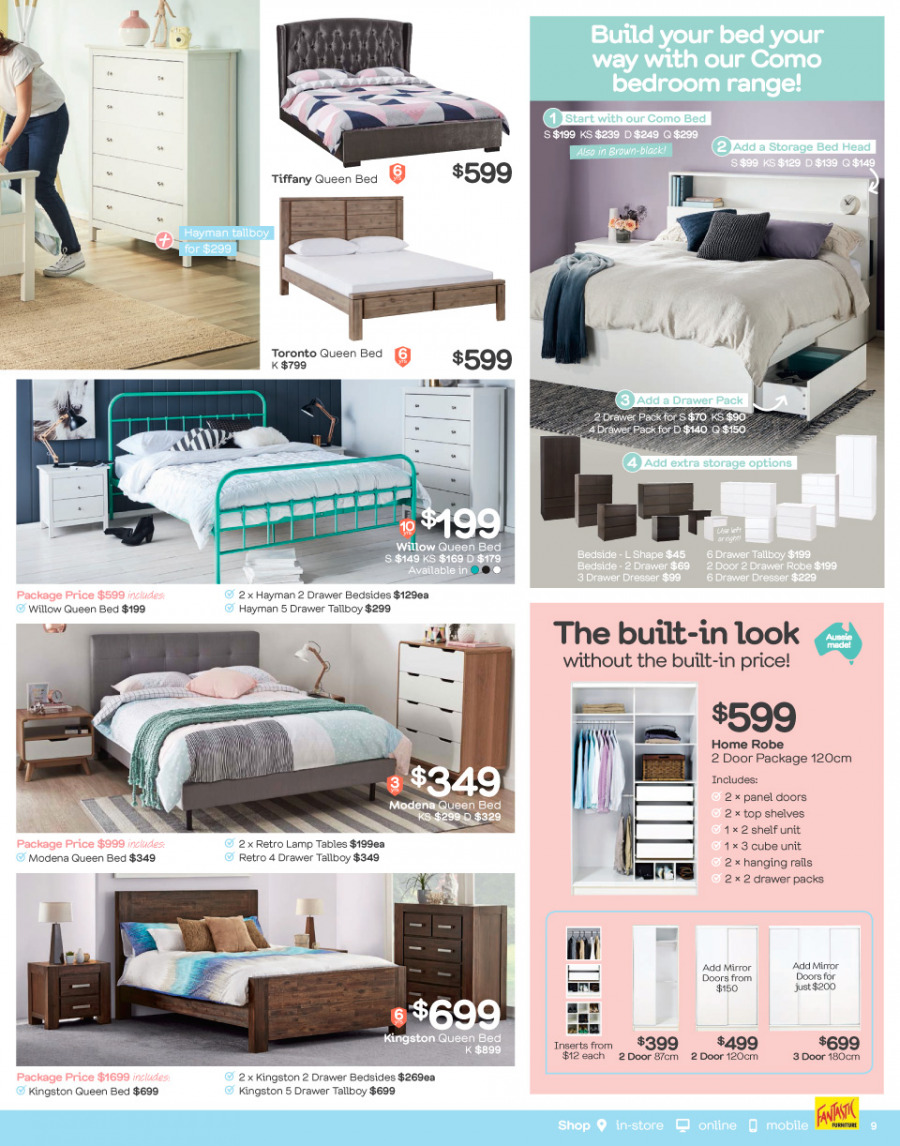 Fantastic Furniture catalogue  - 29.1.2018 - 25.2.2018. Page 9.