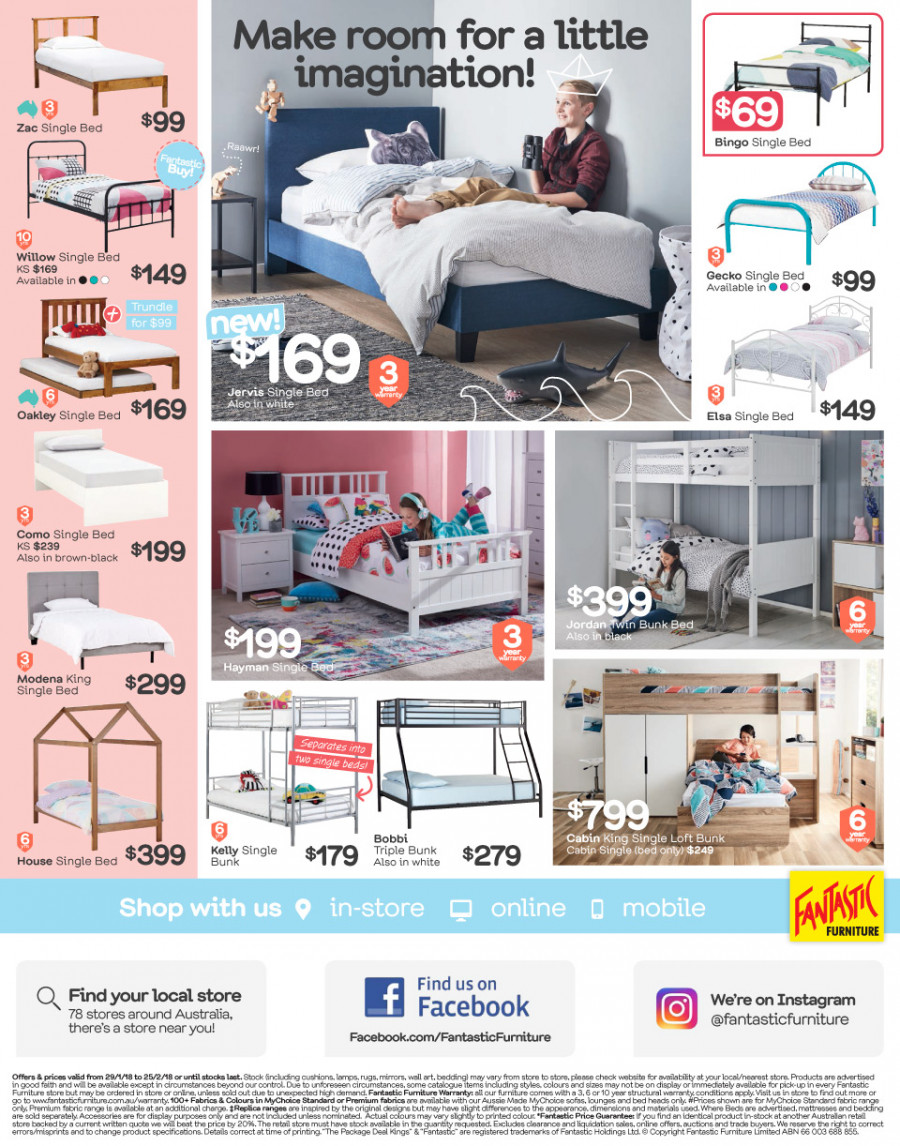 Fantastic Furniture catalogue  - 29.1.2018 - 25.2.2018. Page 12.