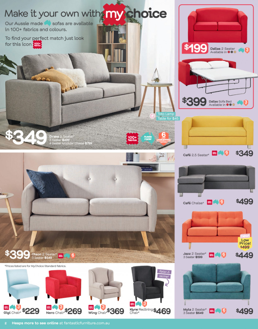 Fantastic Furniture catalogue  - 26.2.2018 - 25.3.2018. Page 2.