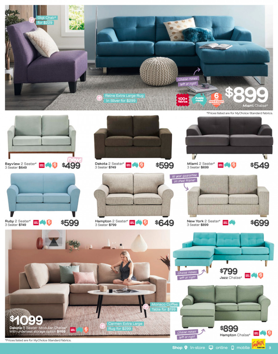 Fantastic Furniture catalogue  - 26.2.2018 - 25.3.2018. Page 3.