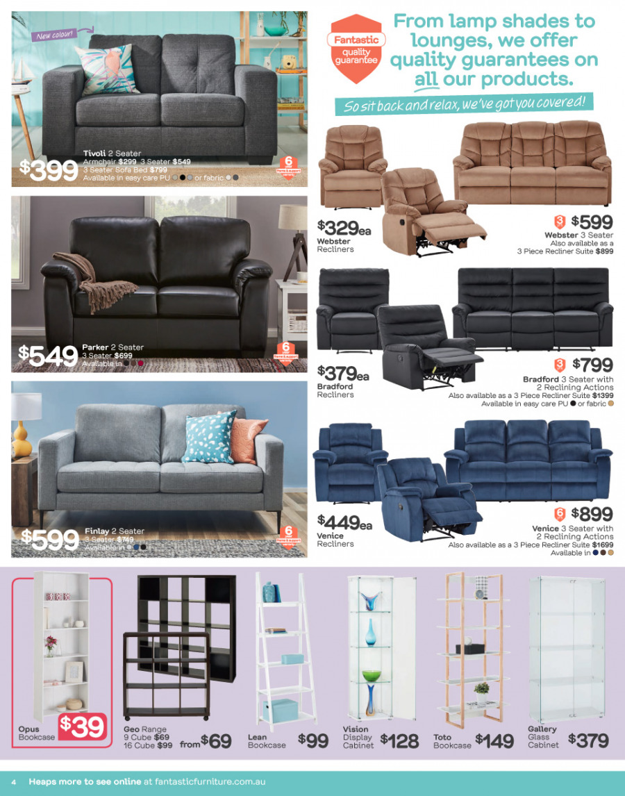 Fantastic Furniture catalogue  - 26.2.2018 - 25.3.2018. Page 4.