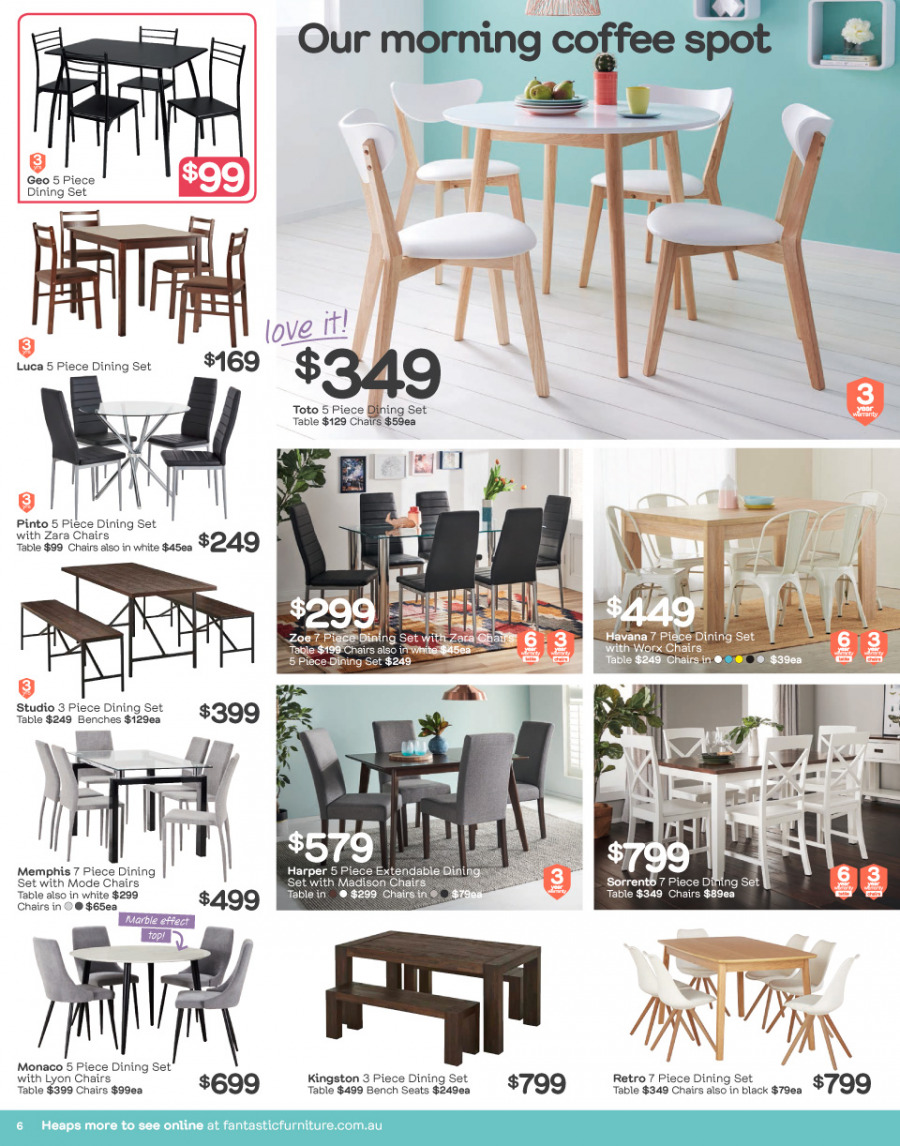 Fantastic Furniture catalogue  - 26.2.2018 - 25.3.2018. Page 6.