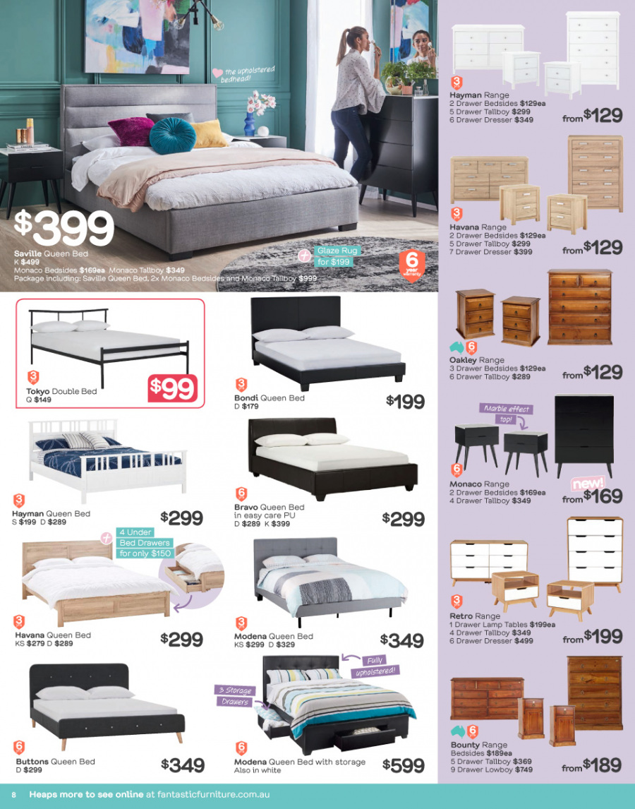 Fantastic Furniture catalogue  - 26.2.2018 - 25.3.2018. Page 8.