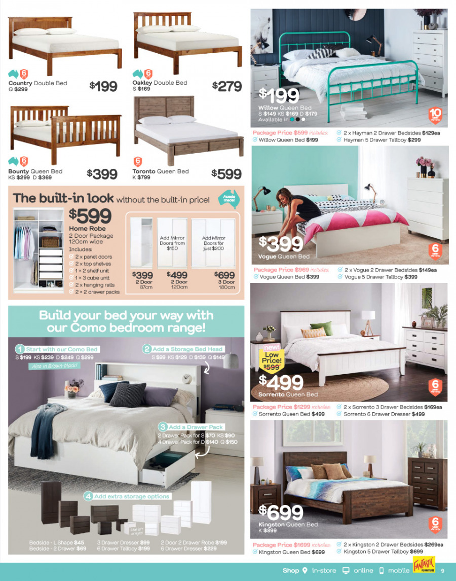 Fantastic Furniture catalogue  - 26.2.2018 - 25.3.2018. Page 9.