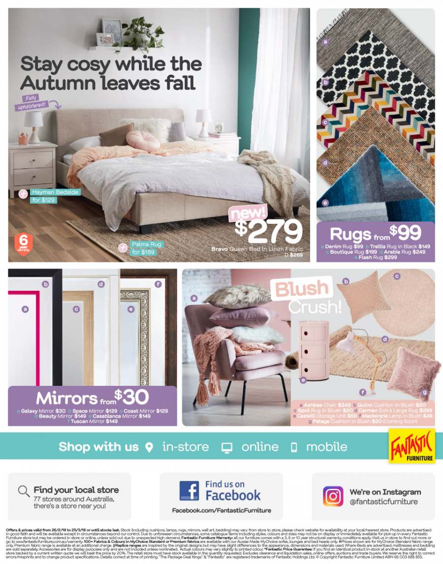 Fantastic Furniture catalogue  - 26.2.2018 - 25.3.2018. Page 12.