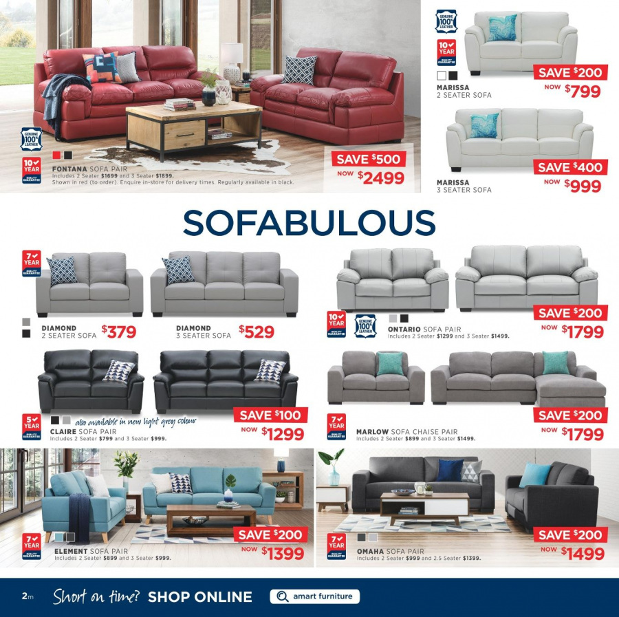 Amart Furniture catalogue  - 28.2.2018 - 28.3.2018. Page 2.