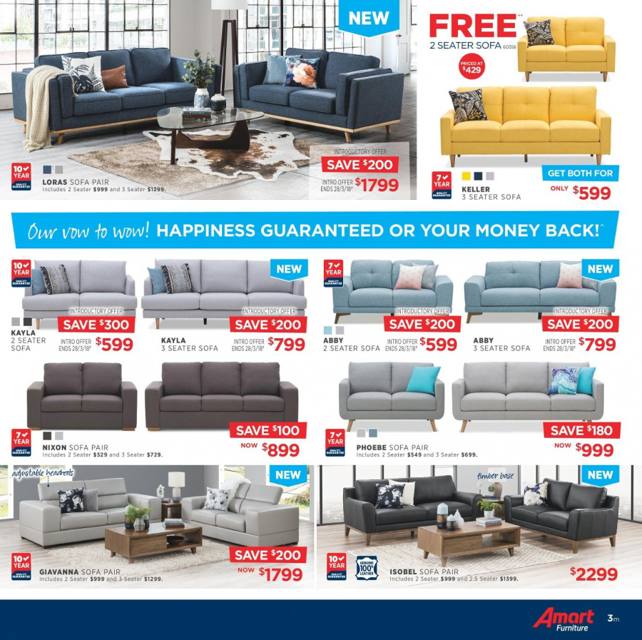 Amart Furniture catalogue  - 28.2.2018 - 28.3.2018. Page 3.
