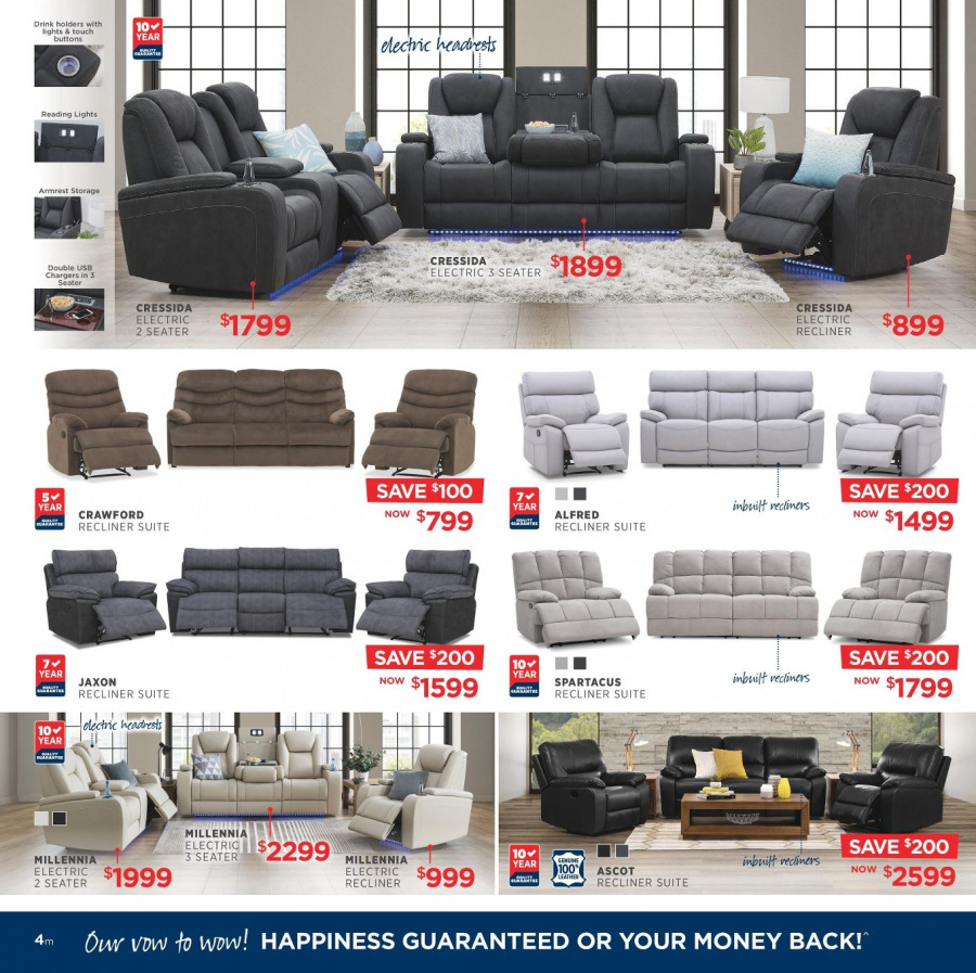 Amart Furniture catalogue  - 28.2.2018 - 28.3.2018. Page 4.