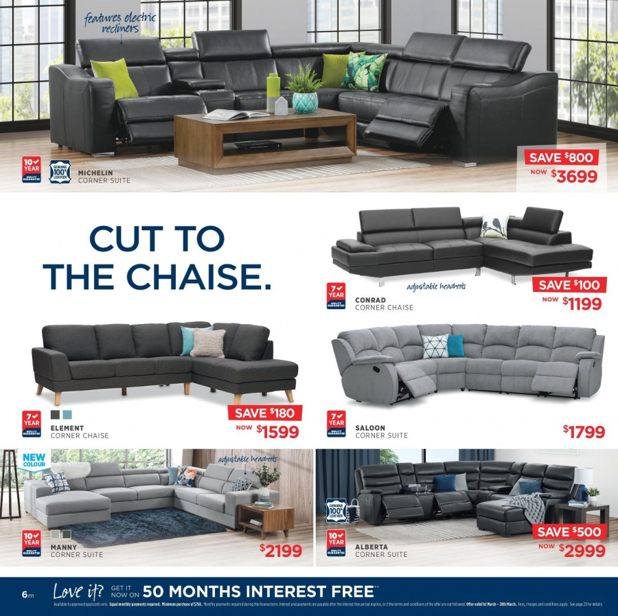 Amart Furniture catalogue  - 28.2.2018 - 28.3.2018. Page 6.