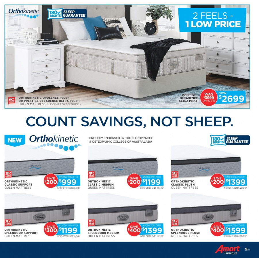 Amart Furniture catalogue  - 28.2.2018 - 28.3.2018. Page 9.