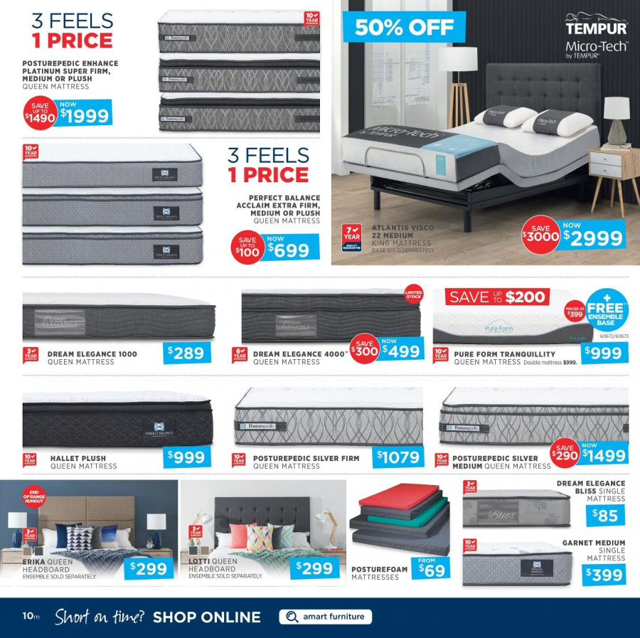 Amart Furniture catalogue  - 28.2.2018 - 28.3.2018. Page 10.