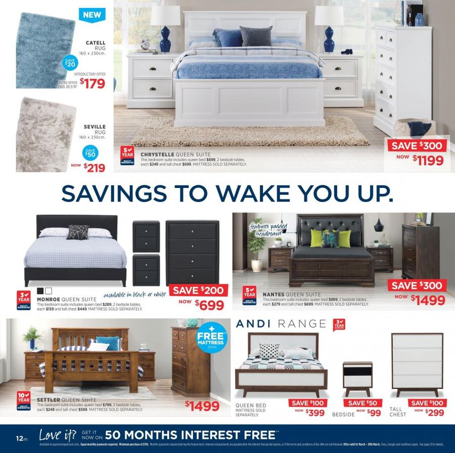 Amart Furniture catalogue  - 28.2.2018 - 28.3.2018. Page 12.