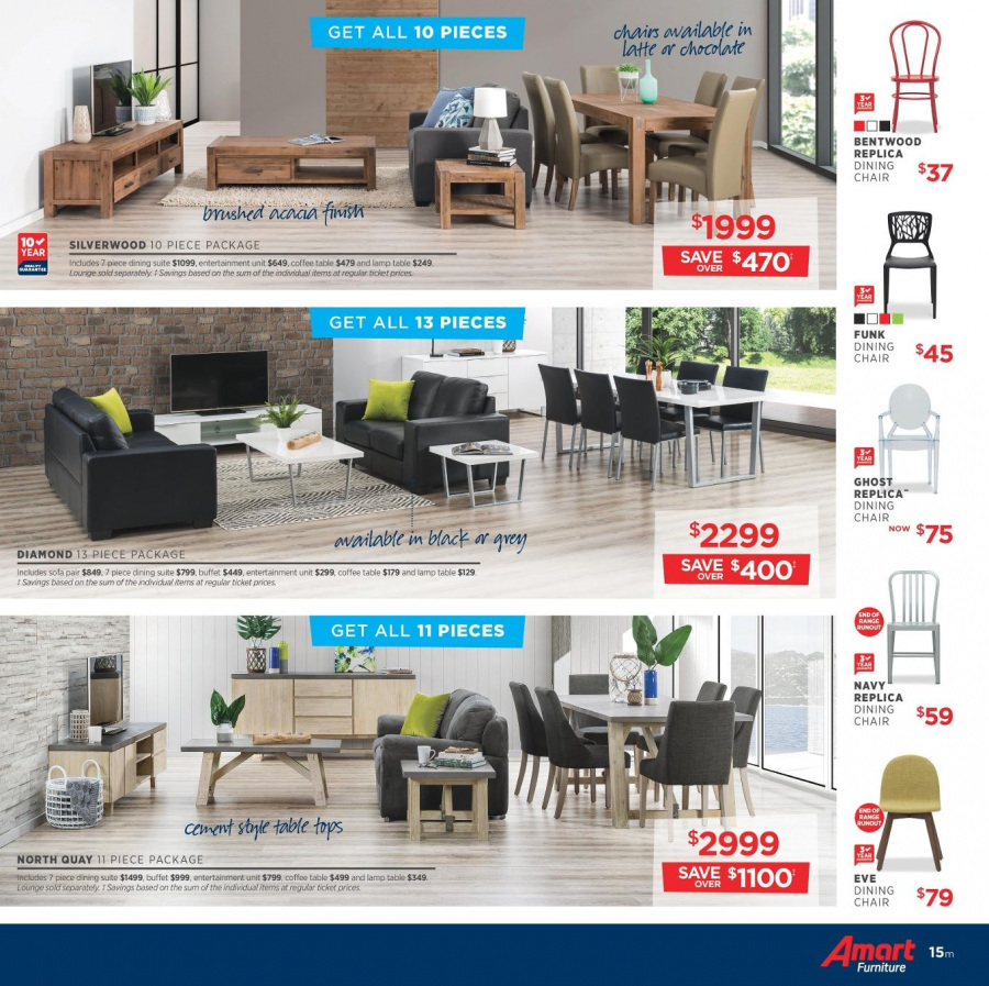 Amart Furniture catalogue  - 28.2.2018 - 28.3.2018. Page 15.