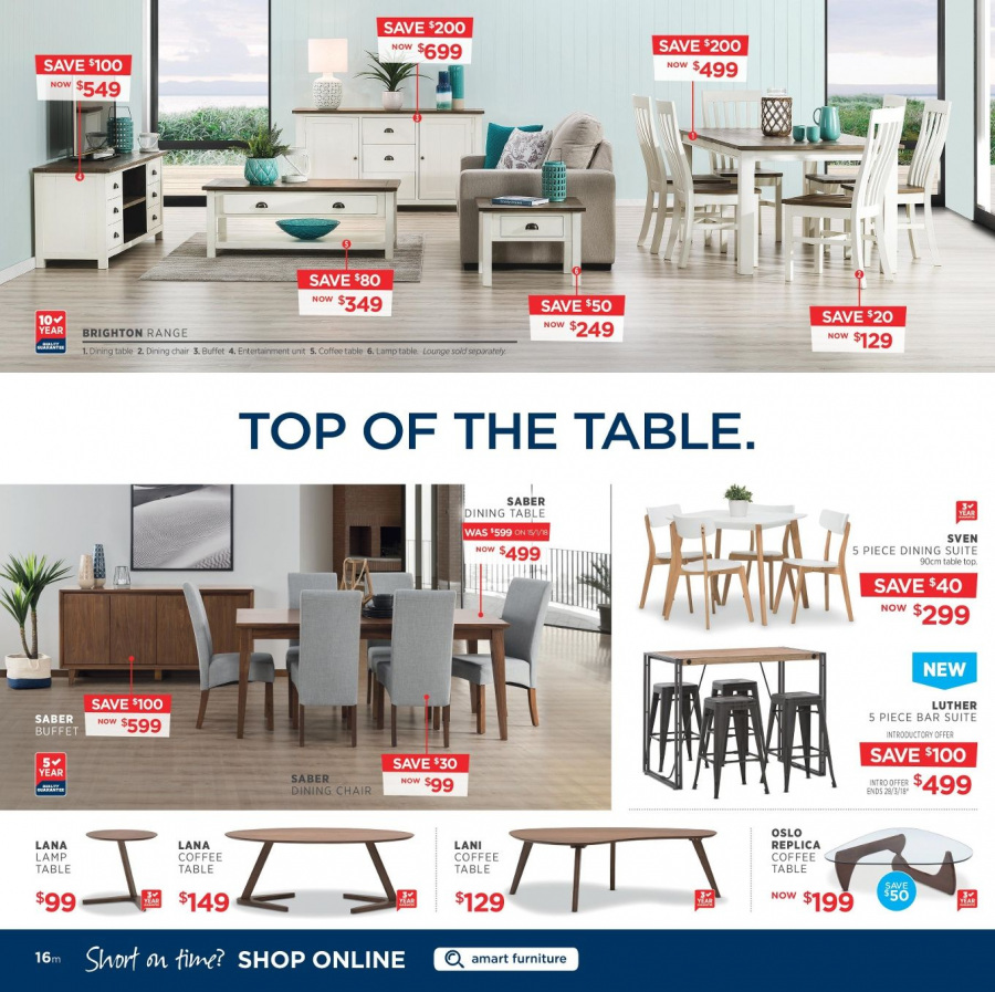 Amart Furniture catalogue  - 28.2.2018 - 28.3.2018. Page 16.