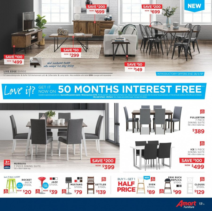Amart Furniture catalogue  - 28.2.2018 - 28.3.2018. Page 17.