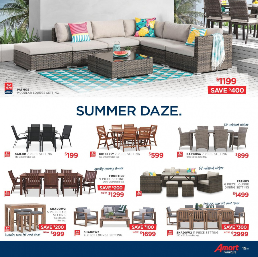 Amart Furniture catalogue  - 28.2.2018 - 28.3.2018. Page 19.