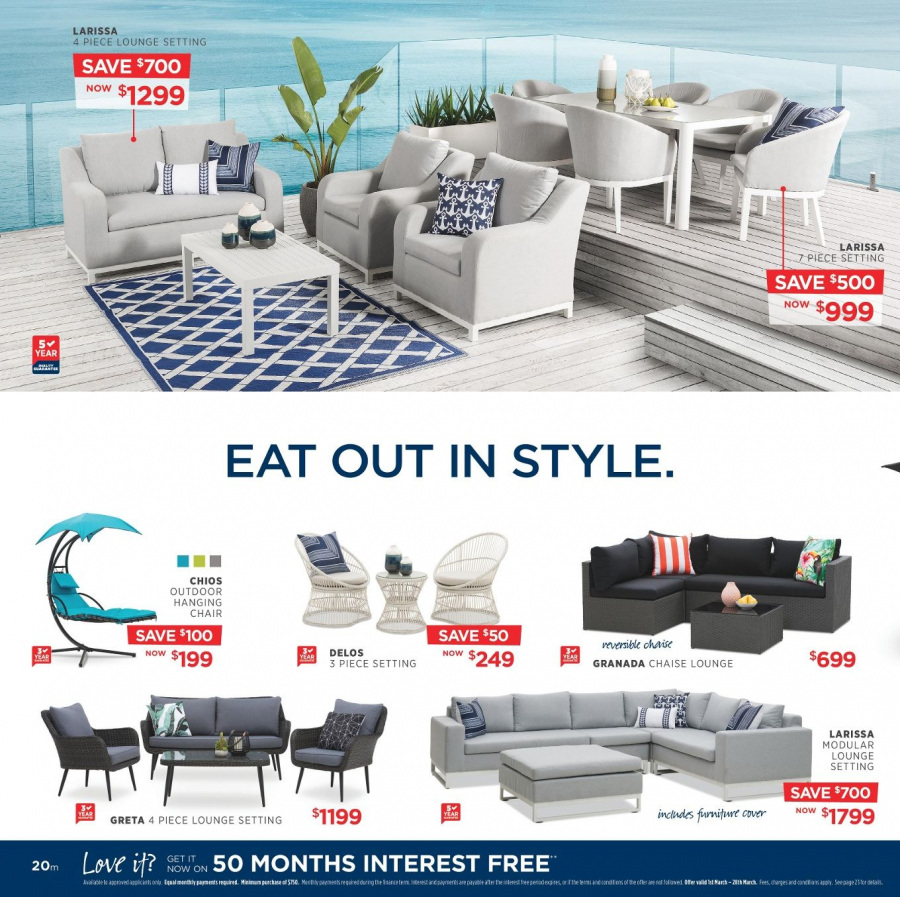 Amart Furniture catalogue  - 28.2.2018 - 28.3.2018. Page 20.