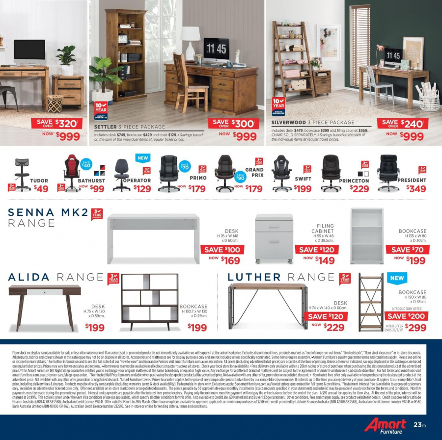 Amart Furniture catalogue  - 28.2.2018 - 28.3.2018. Page 23.