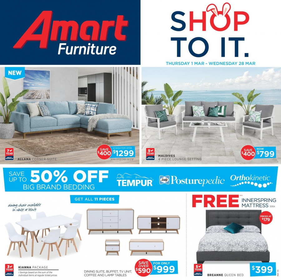 Amart Furniture catalogue  - 28.2.2018 - 28.3.2018. Page 24.
